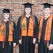 Valedictorians Reagan Hardin and Holley McGonagill, Salutatorian Rainer Nichols