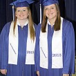 Valedictorian Summer Williams and Salutatorian Jenna Campbell