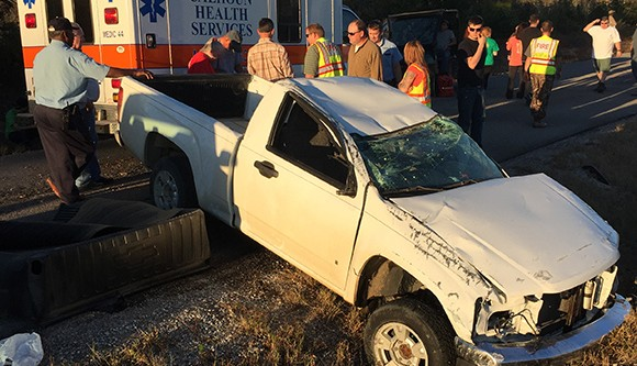 No significant injuries in Tuesday evening rollover