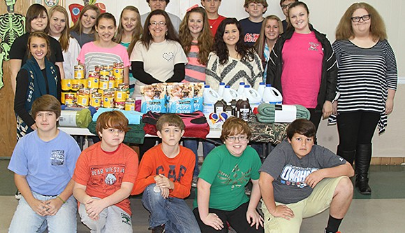 Academy students collect supplies for Dog Lovers League