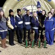Bruce band captains, from left, Kim Ratliff, Kayde  Coleman, Chelsea Tillman, Aleta Brown, Anfernee Taylor, Katelyn Swanson, Jadwin Manuel, Torie Patton, Taylor Haire, McKenzie Morris and Caitlin McCormick. Photo by Joel McNeece