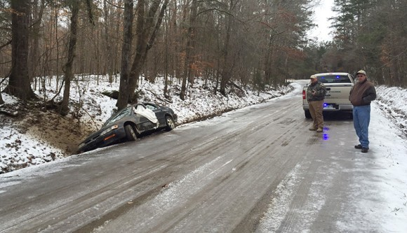 Icy roads cause problems