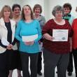 Perfect Attendance awards went to, from left, Teresa Patterson, Tink Massey, Stephanie Hitt, Katie Gaskin, Laura Baker, Rose Diamond, Martha Cannon, Millie Goforth and Daphne Warren.
