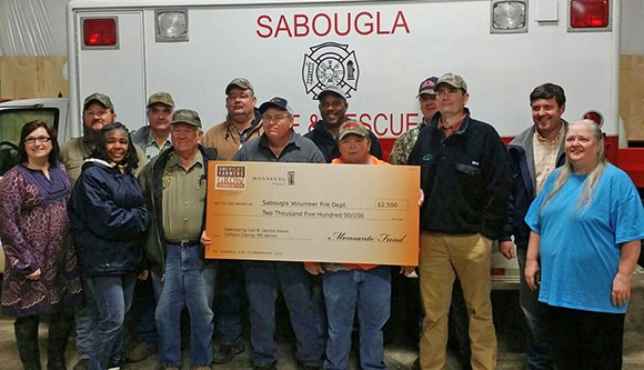 Sabougla Fire Department gets $2,500