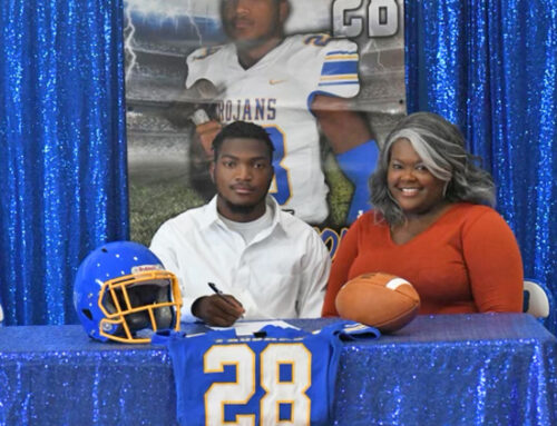Three Bruce Trojan athletes sign scholarships with Arkansas Baptist