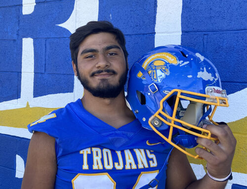 Mata proud to wear the Trojans' Blue and Gold